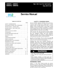 Carrier OM58-129 Service manual
