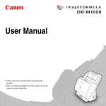 Canon DR-M160II User manual