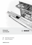 Bosch HV68T53UC Operating instructions