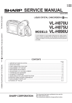 Sharp VL-C650S Service manual