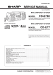 Sharp CD-E700H Service manual