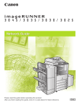 Cannon imageRunner 3045 User`s guide