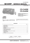 Sharp CD-K449W Service manual