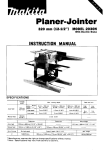 Makita 2030N Instruction manual