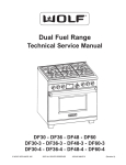 Wolf DF604CF Service manual