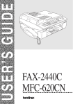 Brother MFC 620CN - Color Inkjet - All-in-One User`s guide