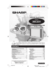 Sharp 36C231 Operating instructions