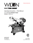 Wilton 3400 Operating instructions