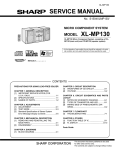Sharp XL-MP130 Service manual