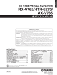 Yamaha RXV765 - RX AV Receiver Service manual