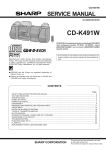 Sharp CD-K491W Service manual
