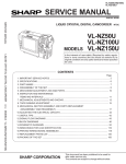 Sharp VL-NZ50U Service manual