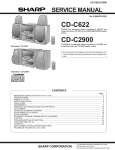 Sharp CDC2900 - 3-CD Compact Stereo System Service manual
