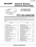 Sharp XG-C40XUSL Service manual