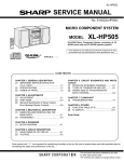 Sharp XL-HP505 Service manual