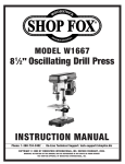 Woodstock SHOP FOX W1667 Instruction manual