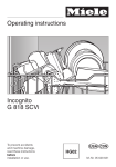 Miele G 2582 SCVi Operating instructions