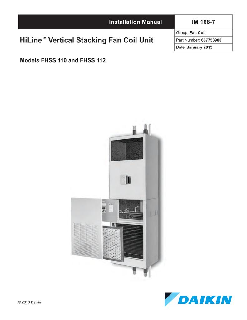Daikin MT 180 Installation manual