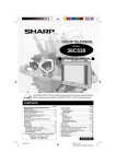 Sharp 36C530 Operating instructions