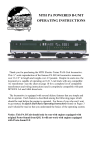 MTH Electric Trains PA B-Unit Operating instructions
