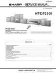 Sharp HT-DP2500W Service manual