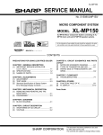 Sharp XL-MP150H Service manual
