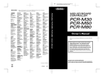 Roland PCR-80 Owner`s manual