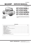 Sharp QT-27H Service manual
