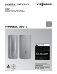 Viessmann VITOCELL 300V Technical data