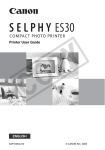 Canon SELPHY ES30 User guide