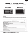 Sharp R-403KK Service manual