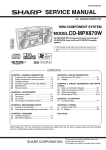 Sharp CD-MPX870W Service manual