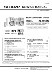 Sharp XL-UH240 Service manual