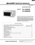 Sharp R-340D Service manual