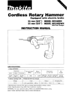 Makita HRIGODH Instruction manual