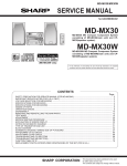 Sharp MD-MX30 MD Service manual