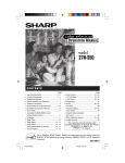 Sharp 27NS50 Operating instructions