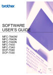 Brother MFC-7450 User`s guide