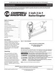 Campbell Hausfeld SB524000 Operating instructions