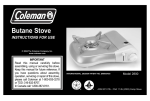 Coleman 2800 Instruction manual