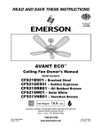 Emerson CF921VNB01 Owner`s manual