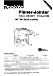 Makita 2030S Instruction manual