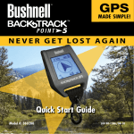 Bushnell BACKTRACK 360200 Instruction manual