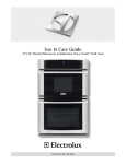 Electrolux EW27MC65JS Use & care guide