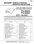 Sharp AN-60KT Service manual