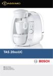 Bosch TAS 20xxUC User manual