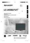 Sharp LC 26SB27UT Operating instructions