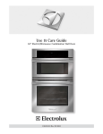 Electrolux E30MC75JPS Use & care guide