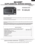 Sharp R-404JK Service manual
