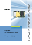 Siemens XT75 Specifications